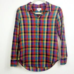 Madewell Broadway & Broome Plaid Button Down Shirt